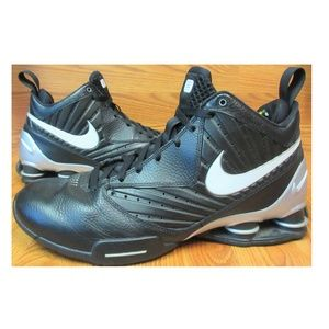 2010 NIKE SHOX BB PRO TB BLACK LEATHER BASKETBALL